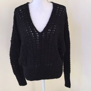 NWT! Free People black small v neck sweater
